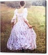 Woman In A Meadow Canvas Print