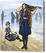 Womens Fashion, 1886 Canvas Print
