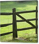 Wood Fence Canvas Print