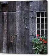 Wooden Building And Window Box Canvas Print