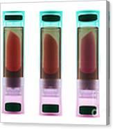 X-ray Of Lipsticks Canvas Print