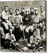 Yale Baseball Team, 1901 Canvas Print