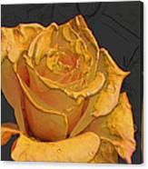 Yellow Rose Art Canvas Print