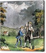 Benjamin Franklin American Polymath Canvas Print