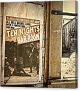 10 Nights In A Bar Room Canvas Print