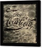 Coca Cola Sign Grungy Retro Style Canvas Print