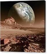 Earth-like Planet, Artwork Canvas Print