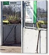 Recycling Centre Canvas Print