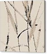 Water Reed Digital Art Canvas Print