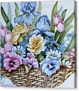 1119 B Flower Basket Canvas Print