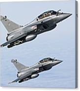 Dassault Rafale B Of The French Air Canvas Print