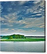 1206-9119 Arkansas River At Spadra Park  Canvas Print