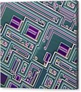 Microchip, Light Micrograph Canvas Print