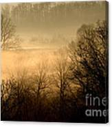 Misty Mountain Sunrise Canvas Print