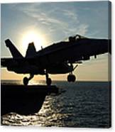 An Fa-18c Hornet Launches Canvas Print