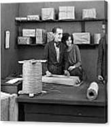 Silent Film Still: Offices Canvas Print