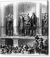 Washington: Inauguration Canvas Print