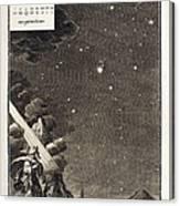 1731 Johann Scheuchzer Star Magnitudes Canvas Print