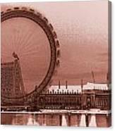 London Eye Art Canvas Print