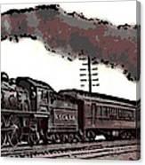 1800's Steam Train Canvas Print