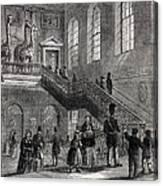 1830 Montagu House Natural History Museum Canvas Print