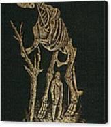 1868 Waterhouse Hawkins & Hadrosaur Gilt Canvas Print