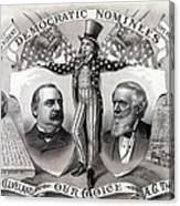 1888 Democratic Presidential Campaign Canvas Print