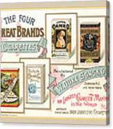1889 W. Duke Sons Co Cigarettes Trading Card Canvas Print