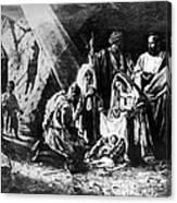1898 Artwork Of Nativity Scene At Nativity Church Canvas Print