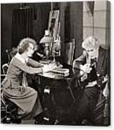 Silent Still: Man & Woman Canvas Print