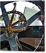 1913 Chalmers - Steering Wheel Canvas Print