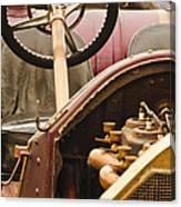 1914 Mercer Model 35 J Raceabout Engine And Steering Wheel Canvas Print