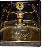1915 Model-t Ford Hood Ornament Canvas Print