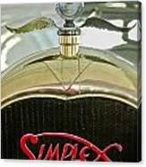 1916 Crane-simplex Model 5 Seven-passenger Touring Hood Ornament Canvas Print