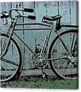 1918 Harley Davidson Bicycle Canvas Print
