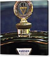 1920 Hudson Super 6 Touring Hood Ornament Canvas Print