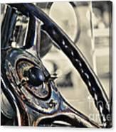 1924 Packard - Steering Wheel Canvas Print