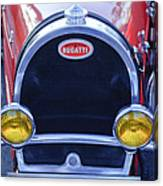 1927 Bugatti Replica Grille Headlights Canvas Print