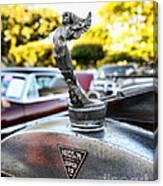 1928 Hudson Super Six Roadster Hood Ornament Canvas Print
