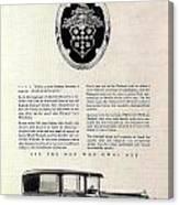 1928 Packard Canvas Print