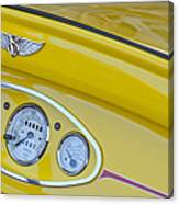 1929 Ford Model A Roadster Dashboard Instruments Canvas Print
