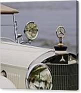 1929 Mercedes-benz S Tourer Hood Ornament Canvas Print