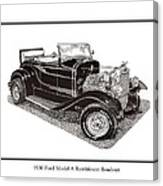 1930 Ford Model A Roadster Canvas Print