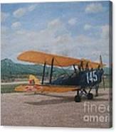 1930's Tiger Moth Aircraft - Aeronave Forca Aerea Portuguesa Canvas Print