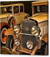 1931 La Salle Series 345r And 1929 Packard Roadster Canvas Print