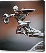 1931 Packard Deluxe Eight Roadster Hood Ornament Canvas Print
