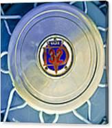 1931 Stutz Dv-32 Convertible Sedan Wheel Emblem Canvas Print