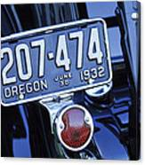 1932 Ford Model 18 Roadster Hotrod Taillight Canvas Print