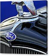 1932 Ford V8 Hood Ornament Canvas Print