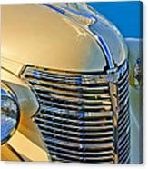 1933 Chevrolet Grille And Headlights Canvas Print